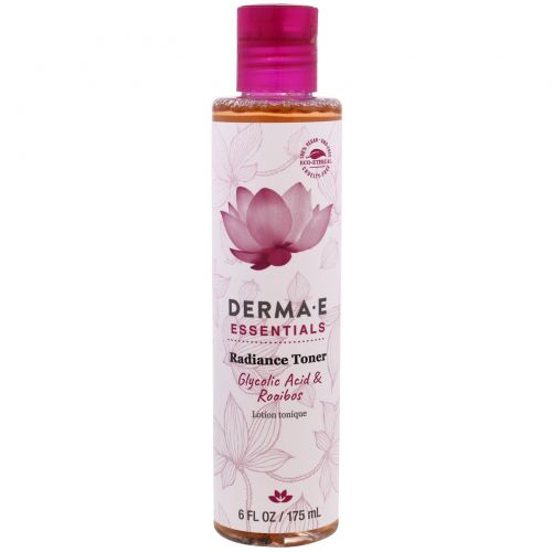 Derma E, Essentials, Radiance Toner, Glycolic Acid & Rooibos , 6 fl oz (175 ml)