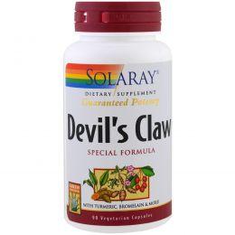 Solaray, Специальная формула когтя Дьявола, 90 вегетарианских капсул