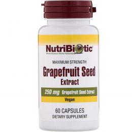 NutriBiotic, Экстракт семян грейпфрута, 250 мг, 60 капсул