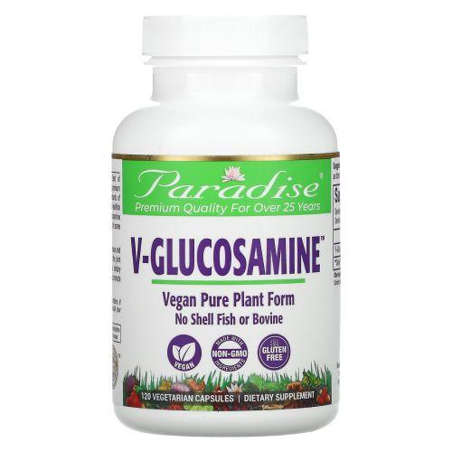 Paradise Herbs, V-глюкозамин, 750 мг, 120 капсул