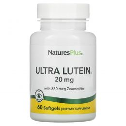 Nature's Plus, Ультра-лютеин максимальной силы, 60 гелевых капсул