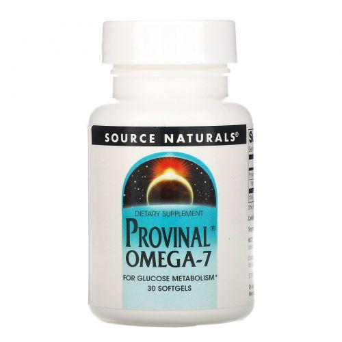 Source Naturals, Provinal Омега-7, 30 капсул