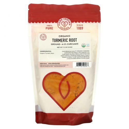 Pure Indian Foods, Organic Turmeric Powder, 7.5 oz (212 g)