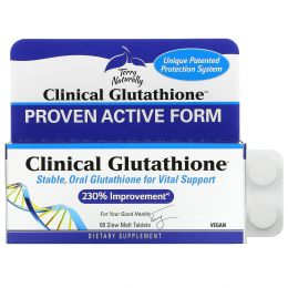EuroPharma, Terry Naturally, Клинический глутатион, 60 медленно растворяемых таблеток