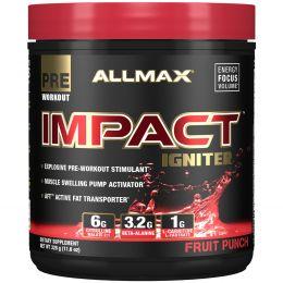 ALLMAX Nutrition, IMPACT Igniter, формула для приема перед тренировкой, цитруллина малат + бета-аланин + N-ацетил-L-цистеин, фруктовый пунш, 11,6 унц. (328 г)