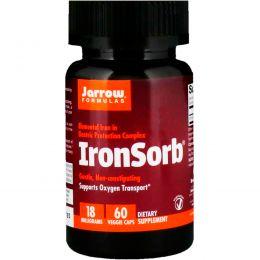 Jarrow Formulas, IronSorb, 18 мг, 60 овощных капсул