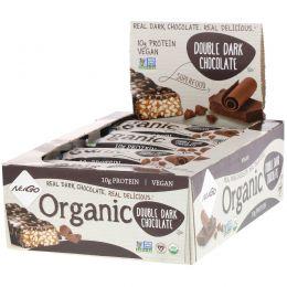 NuGo Nutrition, Органический двойной темный шоколад, 12 органических белковых батончиков, 1,76 унции (50 г) каждый