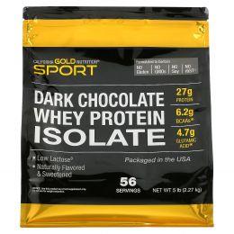 California Gold Nutrition, изолят сывороточного протеина, темные шоколад, 5 фунтов (2270 г)