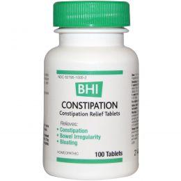 MediNatura, BHI, от запоров, 100 таблеток