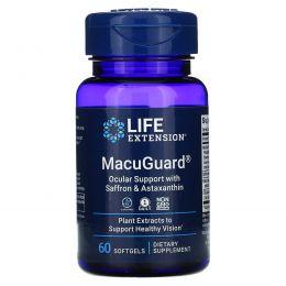 Life Extension, MacuGuard, Ocular Support with Astaxanthin (MacuGuard, поддержка глаз с астаксантином), 60 гелевых капсул
