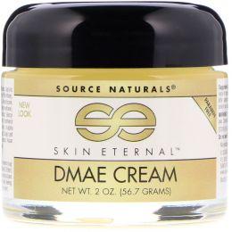 Source Naturals, Крем с ДМАЭ «Вечномолодая кожа», 2 унции (56,7 г)