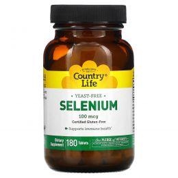 Country Life, Селен, 100 мкг, 180 таблеток
