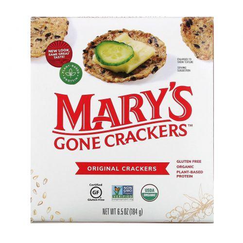 Mary's Gone Crackers, Настоящие крекеры, 6,5 унции (184 г)