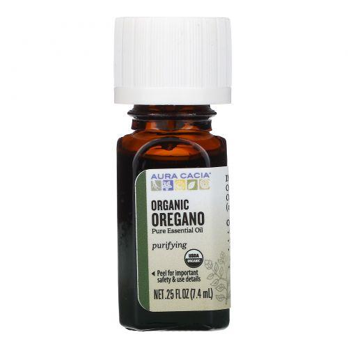 Aura Cacia, Organic, орегано, 0,25 жидкой унции (7,4 мл)