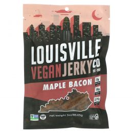 Louisville Vegan Jerky Co, Веганские джерки, бекон в кленовом сиропе от Полетты, 3 унции(85.05 г)