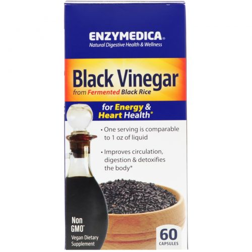 Enzymedica, Черный уксус, 60 капсул