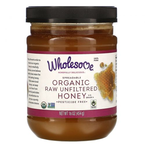 Wholesome Sweeteners, Inc., Органический натуральный мед, 16 унций (454 г)