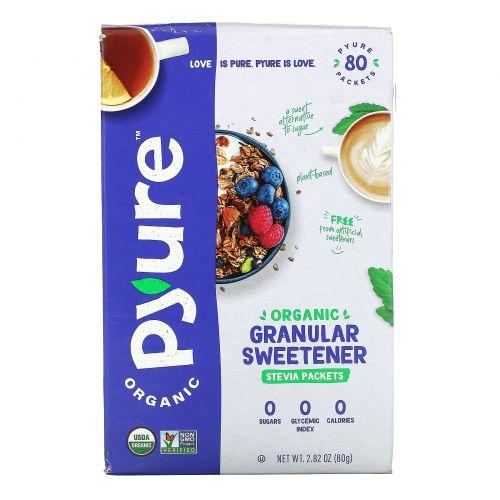 Pyure Brands, Органическая Стевия, Подсластитель Гранулированный, 80 Пакетов, 2,82 унции (80 г)