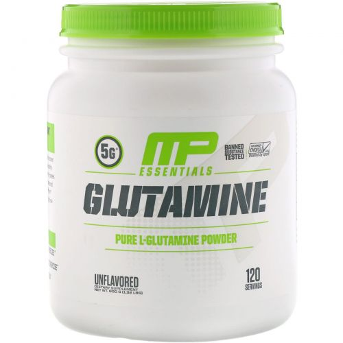 MusclePharm, Глутамин Essentials, Без вкусовых добавок, 1,32 фунта (600 г)