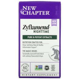 New Chapter, Zyflamend Nighttime, 60 Vegetarian Capsules