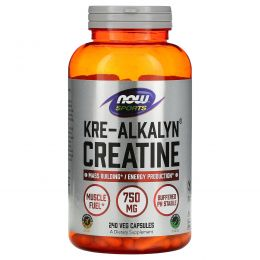 Now Foods, Sports, Kre-Alkalyn креатин 240 капсул
