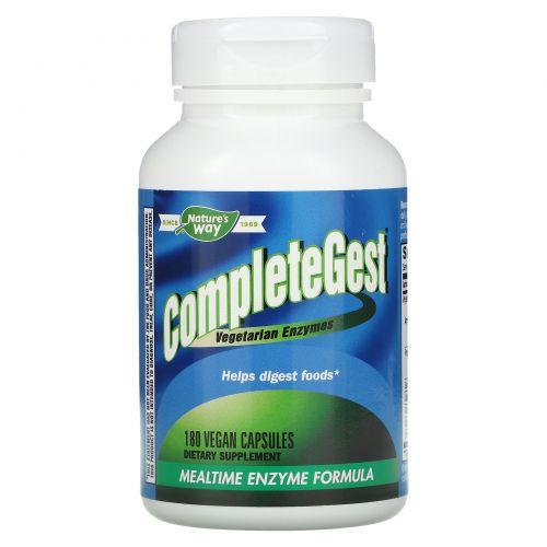 Enzymatic Therapy, CompleteGest, Ферменты для приема во время еды, 180 растительных капсул