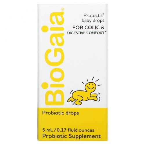BioGaia, ProTectis, для малышей, здоровье пищеварительной системы, пробиотическая добавка, 0,17 ж. унц. (5 мл)
