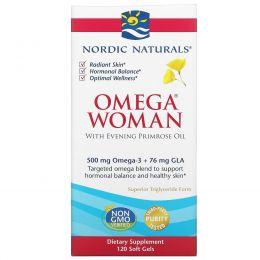 Nordic Naturals, Omega Woman, с маслом примулы, 830 мг, 120 гелевых капсул