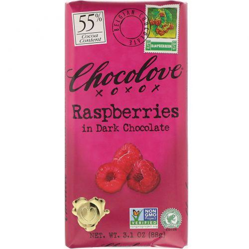 Chocolove, Малина в темном шоколаде, 88 г