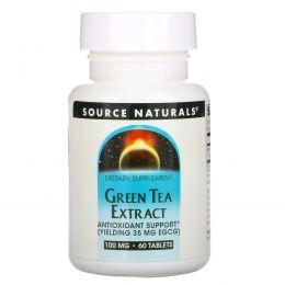 Source Naturals, Экстракт зеленого чая, 60 таблеток