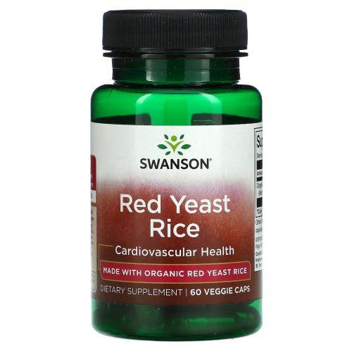 Swanson, Red Yeast Rice, Cardiovasular Health, 60 Veggie Caps