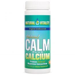 Natural Vitality, Естественное спокойствие плюс кальций, натуральный (без вкуса), 8 унций (226 г)
