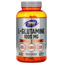 Now Foods, «Спорт», L-глютамин 1000 мг, 240 капсул