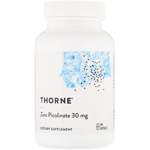 Thorne Research, Цинк пиколинат двойного действия, 180 капсул