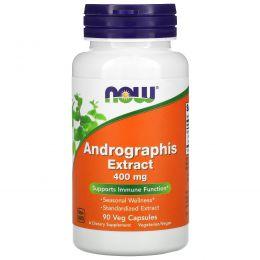 Now Foods, Экстракт андографиса, 400 мг, 90 капсул на растительной основе