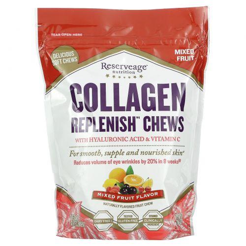 ReserveAge Nutrition, Collagen Replenish, фруктовый вкус, 60 жевательных конфет