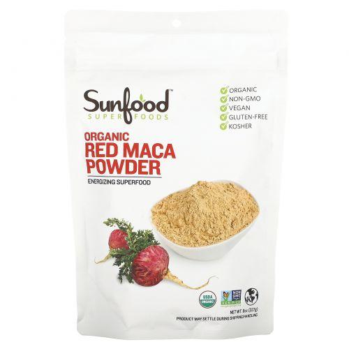 Sunfood, Сырой порошок красной маки, 8 унций (227 г)