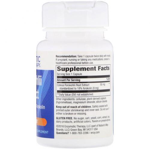 Enzymatic Therapy, Экстракт шпороцветника, для здоровья сердца, 60 растительных капсул