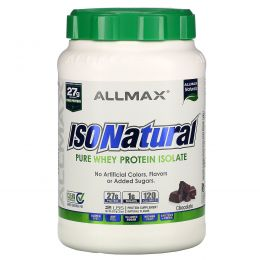 ALLMAX Nutrition, IsoNatural, 100% Ultra-Pure Natural Whey Protein Isolate (WPI90), Chocolate, 2 lbs (907 g)