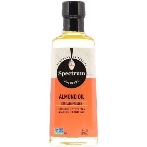 Spectrum Culinary, Almond Oil, Expeller Pressed, 16 fl oz (473 ml)