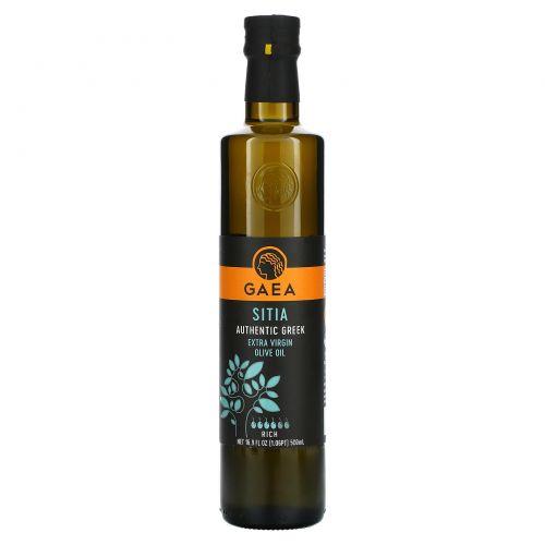 Gaea, Оливковое масло холодного отжима Green & Fruity, 17 жидких унций (500 мл)