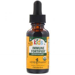 """Herb Pharm, """"Детям"""", пищевая добавка для укрепления иммунитета, не содержит спирта, 1 жидкая унция (30 мл)"""