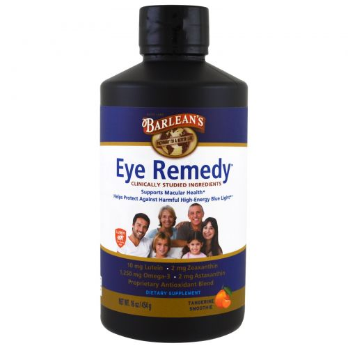 Barlean's, Eye Remedy, Tangerine Smoothie , 16 oz (454 g)