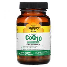 Country Life, Коэнзим Q10, 100 мг, 60 веганских капсул