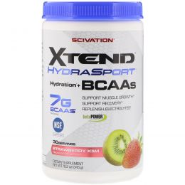 Scivation, Xtend HydraSport, Hydration + BCAAs, Strawberry Kiwi, 12.2 oz  (345 g)