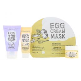 Too Cool for School, Egg-ssential Skincare Mini Set, 4 Piece Set