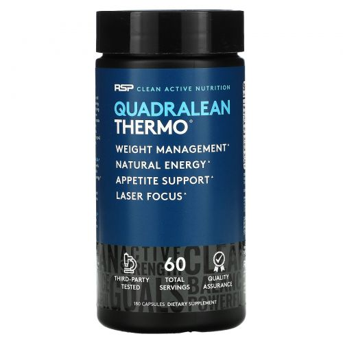 RSP Nutrition, Quadra Lean, термогенное снижение веса, 180 капсул